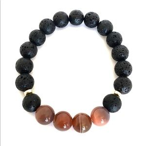 Jewelry - Lava rock and Botswana agate bracelet